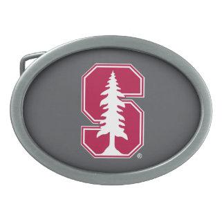 "Cardinal Block ""S"" with Tree Oval Belt Buckle"