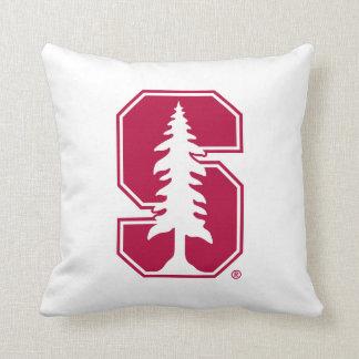"""Cardinal Block """"S"""" with Tree Pillow"""