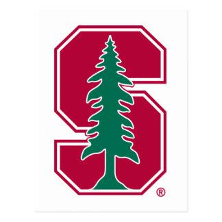 """Cardinal Block """"S"""" with Tree Postcard"""
