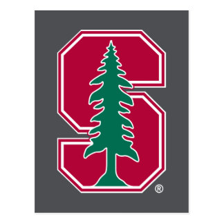 "Cardinal Block ""S"" with Tree Postcard"