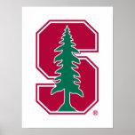 "Cardinal Block ""S"" with Tree Poster"