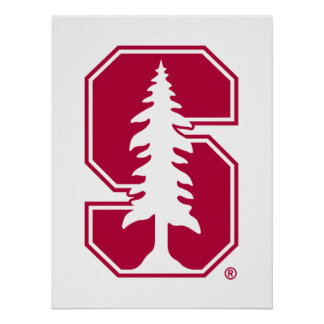 "Cardinal Block ""S"" with Tree Poster"