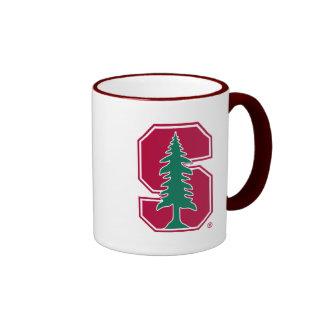 "Cardinal Block ""S"" with Tree Ringer Mug"