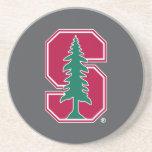 "Cardinal Block ""S"" with Tree Sandstone Coaster"
