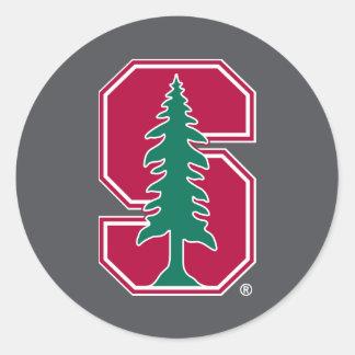 "Cardinal Block ""S"" with Tree Round Stickers"