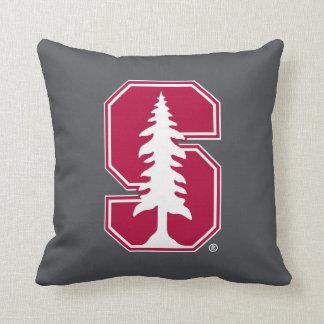 """Cardinal Block """"S"""" with Tree Throw Pillow"""