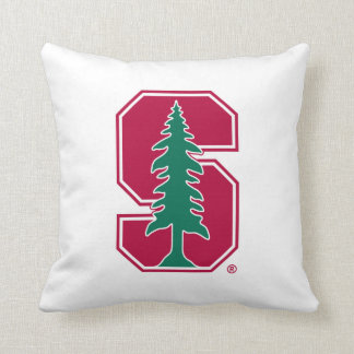"Cardinal Block ""S"" with Tree Throw Pillow"