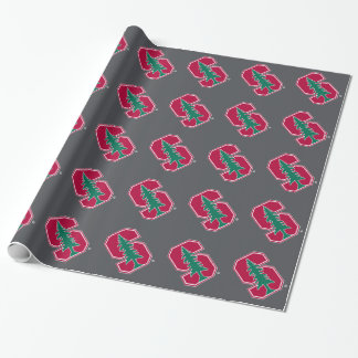 "Cardinal Block ""S"" with Tree Wrapping Paper"