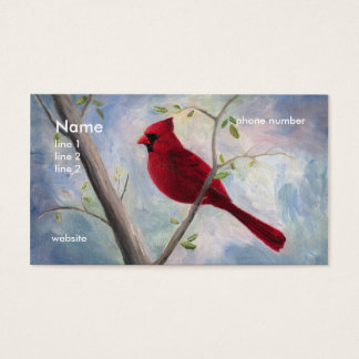 cardinal, business card
