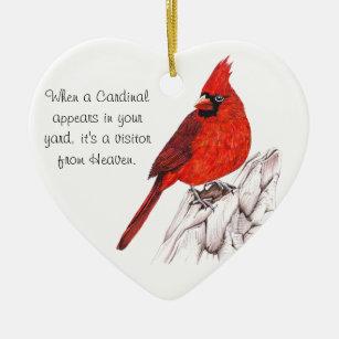 Cardinal Christmas Ornament HHP Original Cardinal Gift Christmas Bicycle Cardinal Decoration Gift Under 5 Farm Christmas Ornament
