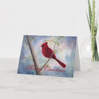 Cardinal Christmas Blank Card card