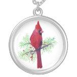 Cardinal Christmas Custom Necklace