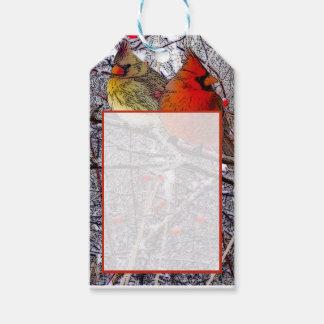 Cardinal Christmas Gift Tags