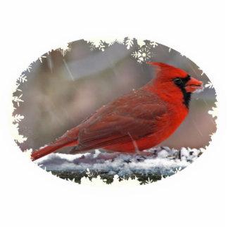 Cardinal Christmas Hanging Acrylic Cutout