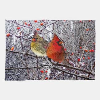 Cardinal Christmas Kitchen Towels