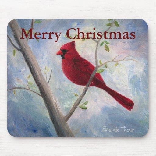 cardinal christmas mousepad