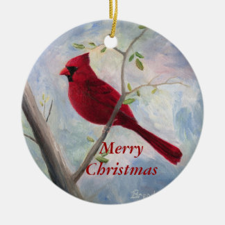 Red Cardinal Ornaments & Keepsake Ornaments | Zazzle