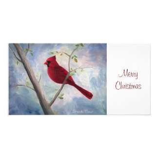 Cardinal Christmas Photocard Personalized Photo Card