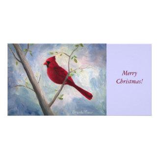 Cardinal Christmas Photocard Card