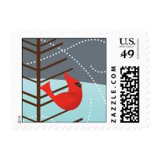 Cardinal Christmas Stamp at Zazzle