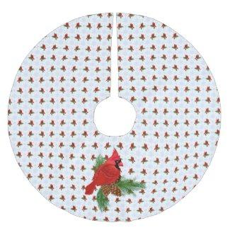 Cardinal Christmas Tree Skirt