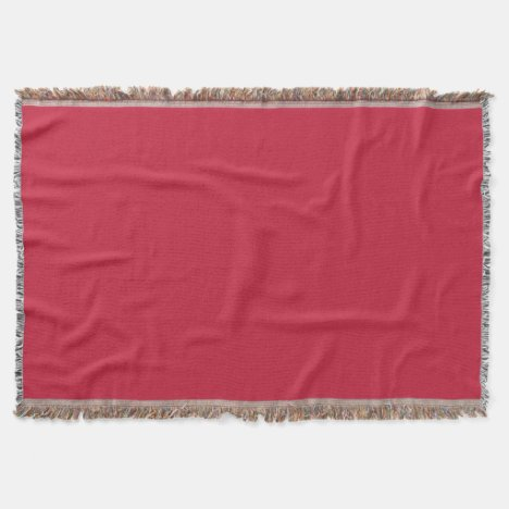Cardinal-Colored Throw Blanket