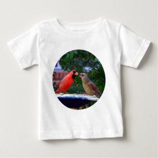Cardinal Couple Eating Infant T-shirt