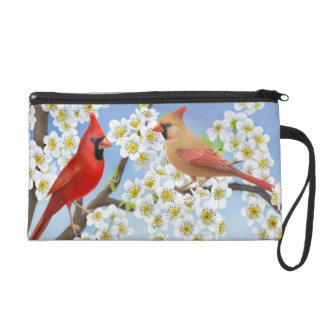 Cardinal Couple in Apple Tree Bagettes Bag
