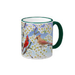Cardinal Couple in Flowering Apple Tree Mug