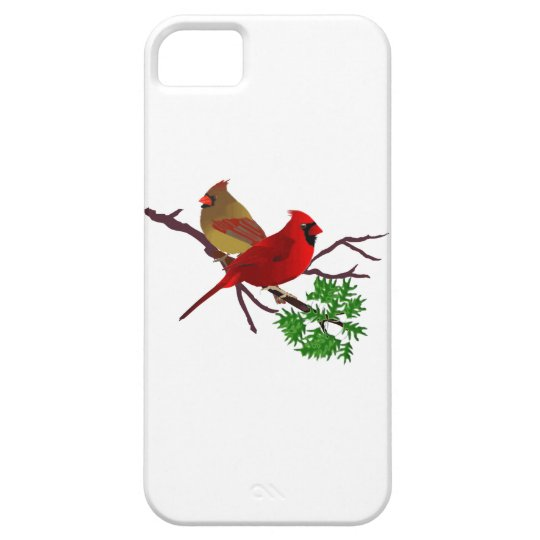 Cardinal Couple on a Branch iPhone SE/5/5s Case