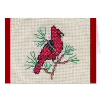 Cardinal Cross Stitch Card