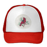 Cardinal Cross Stitch Trucker Hat