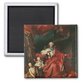 Cardinal de Bouillon  Opening 2 Inch Square Magnet