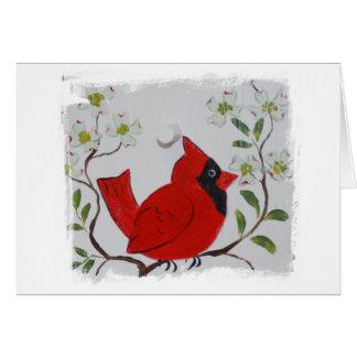 Cardinal & Dogwood Card