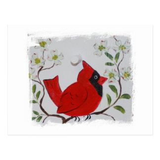Cardinal & Dogwood Postcard