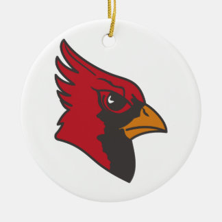 Cardinal Double-Sided Ceramic Round Christmas Ornament