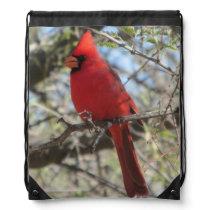 Cardinal Drawstring Bag