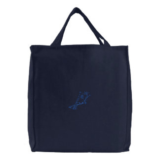 Cardinal Embroidered Tote Bag