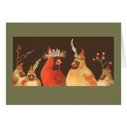 Cardinal family card