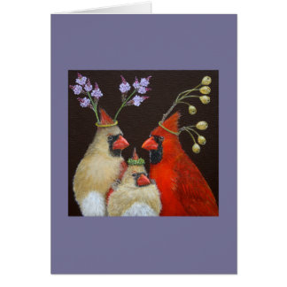 Cardinal Family portrait card