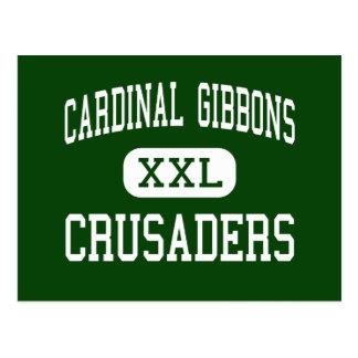Cardinal Gibbons - Crusaders - High - Raleigh Postcard