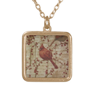 Cardinal Gold Plated Necklace