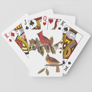 Cardinal Grosbeak Audubon Birds of America Vintage Playing Cards