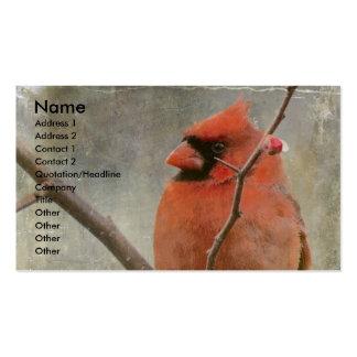 Cardinal Grunge Business Card
