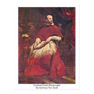 Cardinal Guido Bentivoglio By Anthony Van Dyck Postcards
