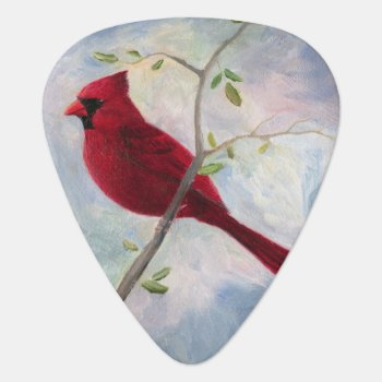 Cardinal Guitar Pick by bmthour at Zazzle