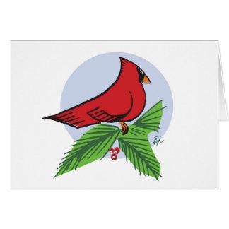 Cardinal Holiday card by Madsahara
