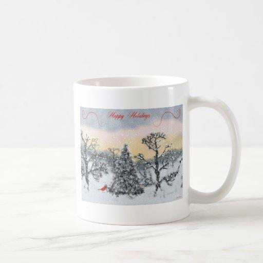 Cardinal Holiday Greetings Mug