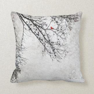 Cardinal in a Tree, Copyright Karen J Williams Throw Pillow