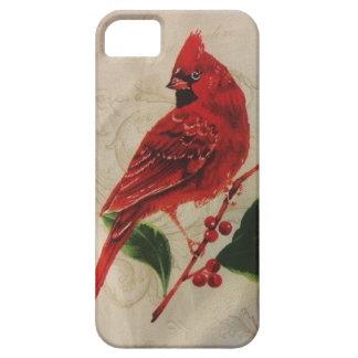 Cardinal in Holly Bush iPhone SE/5/5s Case